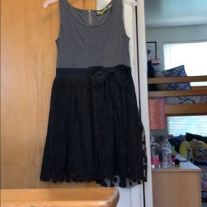 Other - Grey and black midi  dress